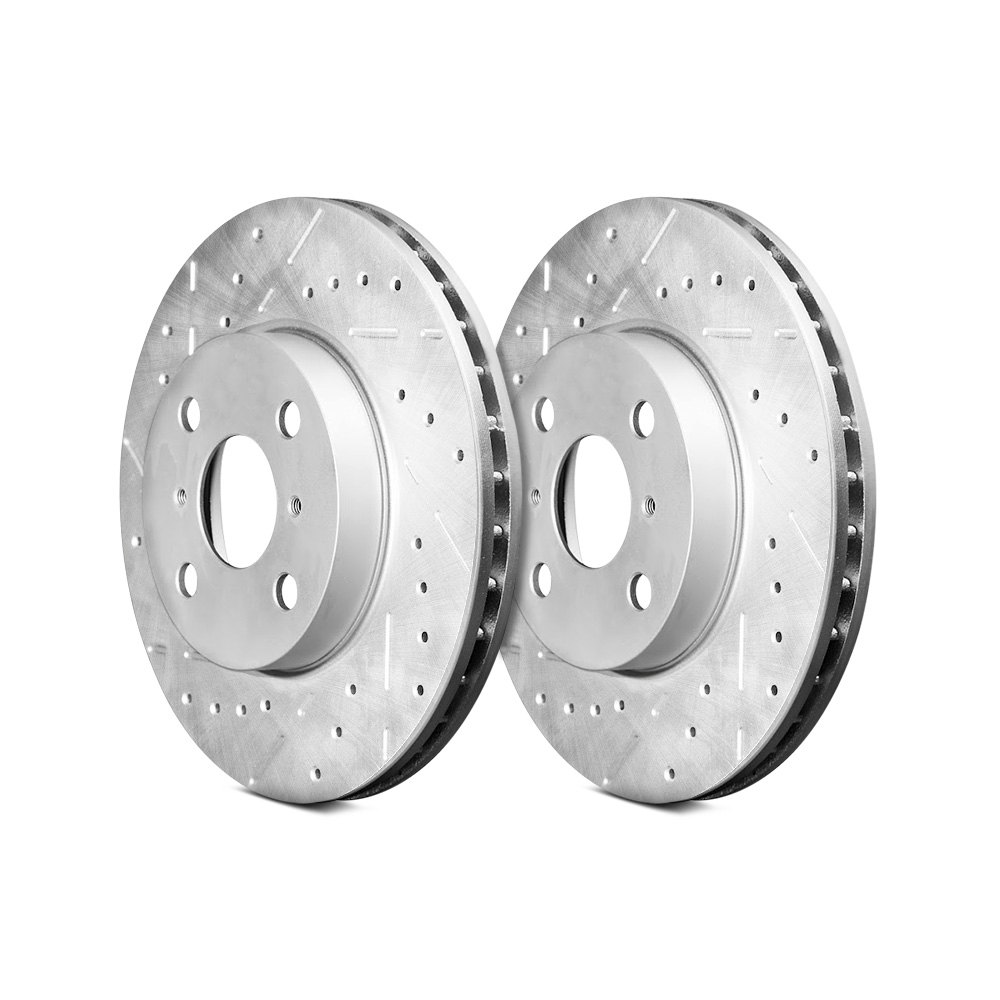 Remmen Brakes  Series Drilled And Slotted  Piece Front Brake Rotors