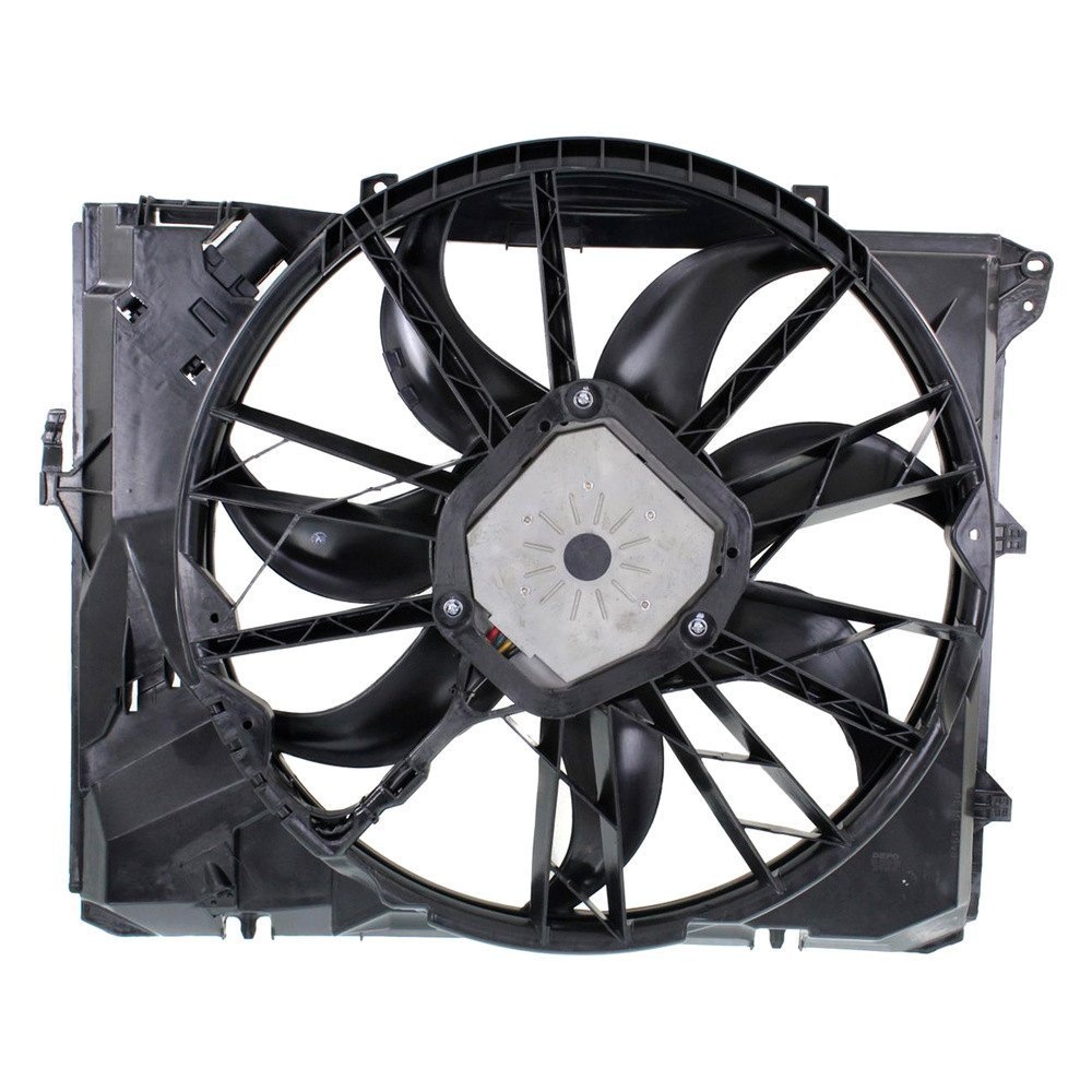 replace bmw 3 series 2007 engine cooling fan assembly. Black Bedroom Furniture Sets. Home Design Ideas