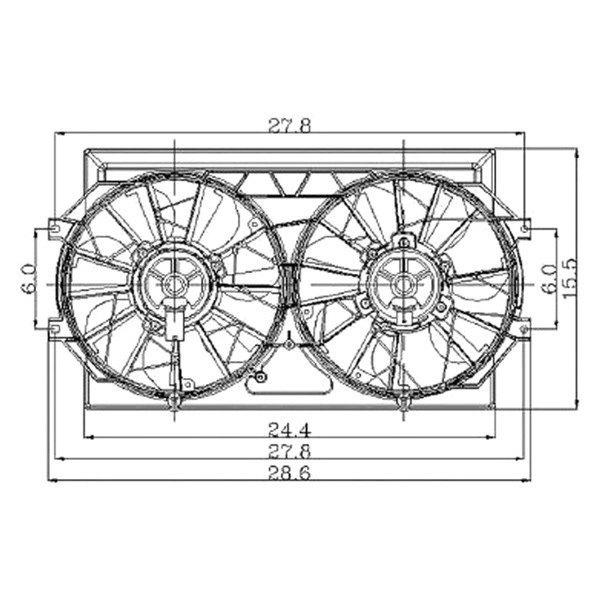 For Chrysler Cirrus 1995-2000 Replace Radiator Fan