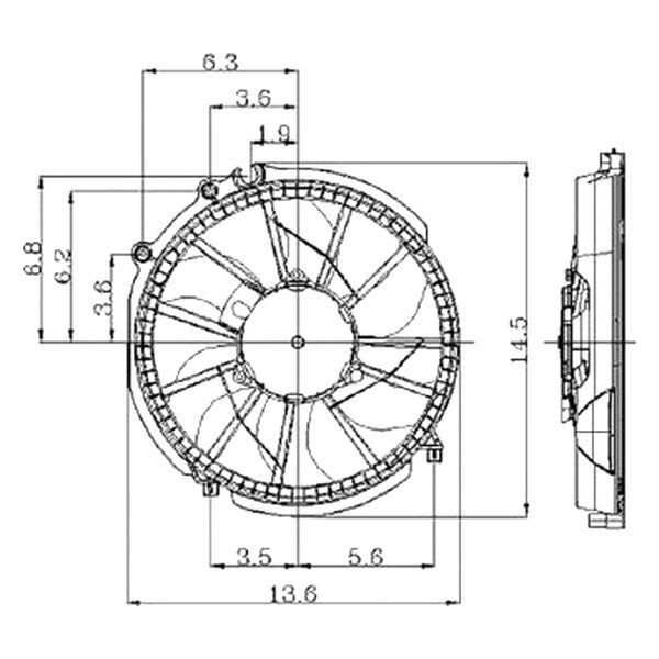 replace u00ae fo3115106  c condenser fan