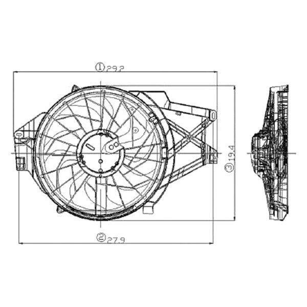 2000 Ford Focu Exhaust Diagram: Ford Mustang 2001 Radiator Fan Assembly