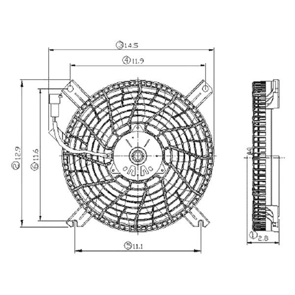 Replace U00ae  C Condenser Fan Assembly