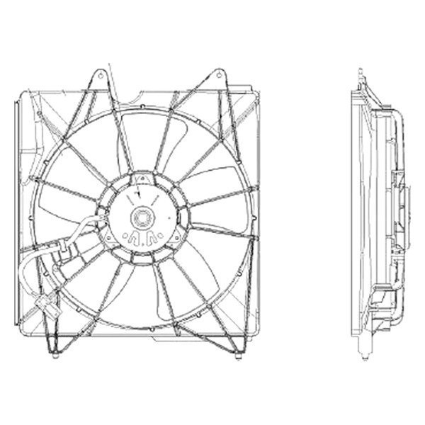 For Acura RDX 2013-2015 Replace HO3115148 Radiator Fan