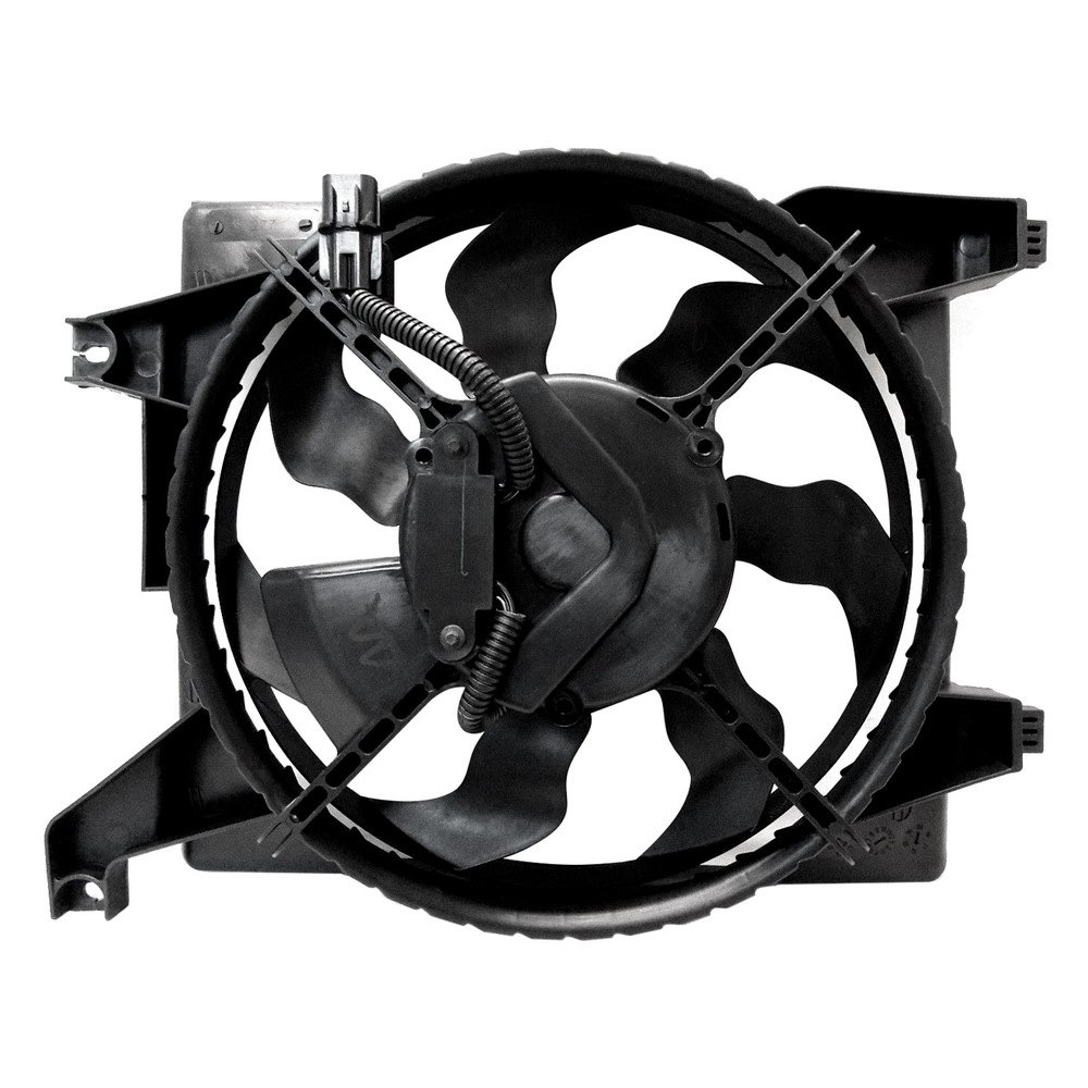 Replace hyundai accent 2006 a c condenser fan assembly for Trane fan motor replacement cost