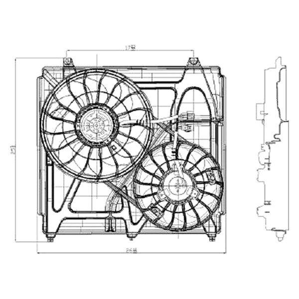 replace ki3115108 kia sorento 2005 radiator fan assembly. Black Bedroom Furniture Sets. Home Design Ideas