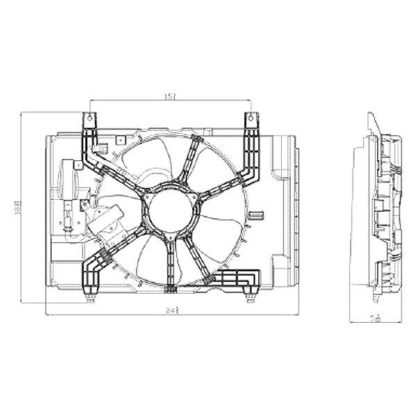 Replace Nissan Versa 2012 Radiator Fan Assembly
