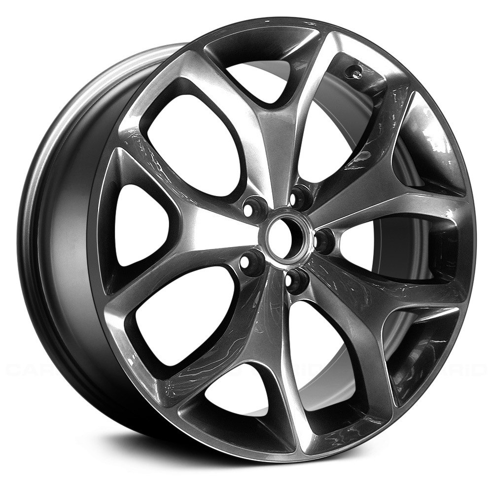 "Dodge Challenger Performance Parts >> Replace® ALY02523U79 - 18"" Remanufactured 5 Y Spokes Dark Smoked Hyper Silver Factory Alloy Wheel"