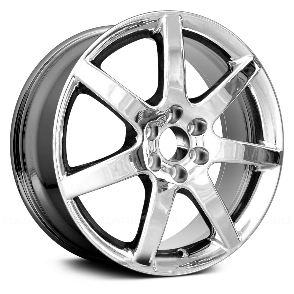 """Cadillac Stsv: Cadillac STS 2008 18"""" Remanufactured 7 Spokes Chrome Factory Alloy Wheel"""