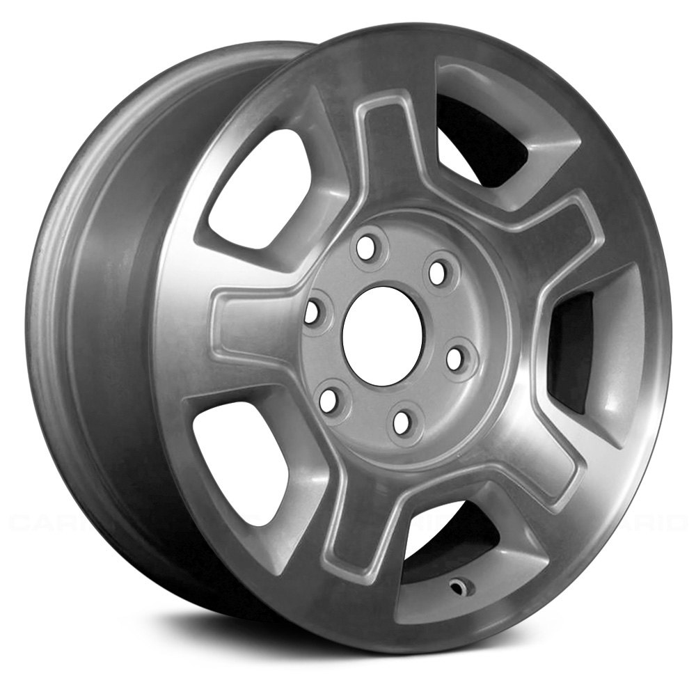 """Replace® - 17"""" Remanufactured 5-Spoke Machined Silver Factory Alloy ..."""