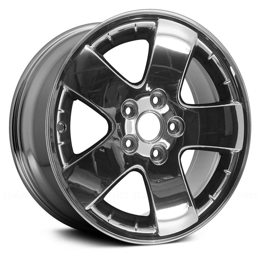 replace aly06611u86n pontiac grand prix 2007 2008 17 replica 5 spokes chrome factory alloy wheel. Black Bedroom Furniture Sets. Home Design Ideas