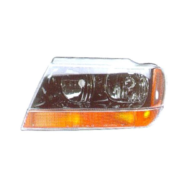 replace ch2502121v jeep grand cherokee 2002 driver side replacement headlight. Black Bedroom Furniture Sets. Home Design Ideas