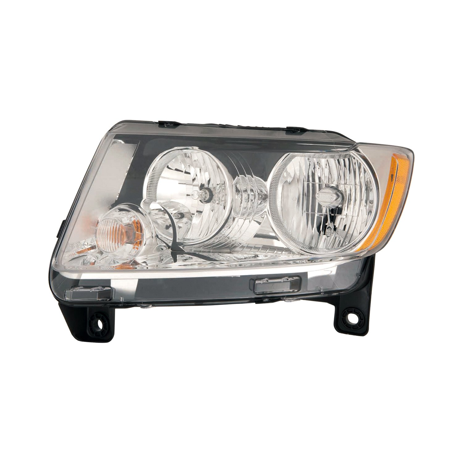 replace jeep grand cherokee with factory halogen headlights 2011 2013 replacement headlight. Black Bedroom Furniture Sets. Home Design Ideas