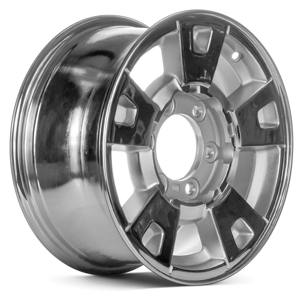 For chevy colorado 04 09 15x7 5 spoke chrome alloy factory - 2005 chevy colorado interior parts ...