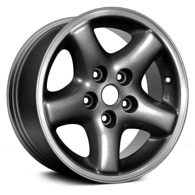 replace jeep wrangler 2005 15x7 5 spoke alloy factory wheel Jeep Wheel Bolts replace 15 x 7 5 spoke charcoal gray alloy factory wheel remanufactured