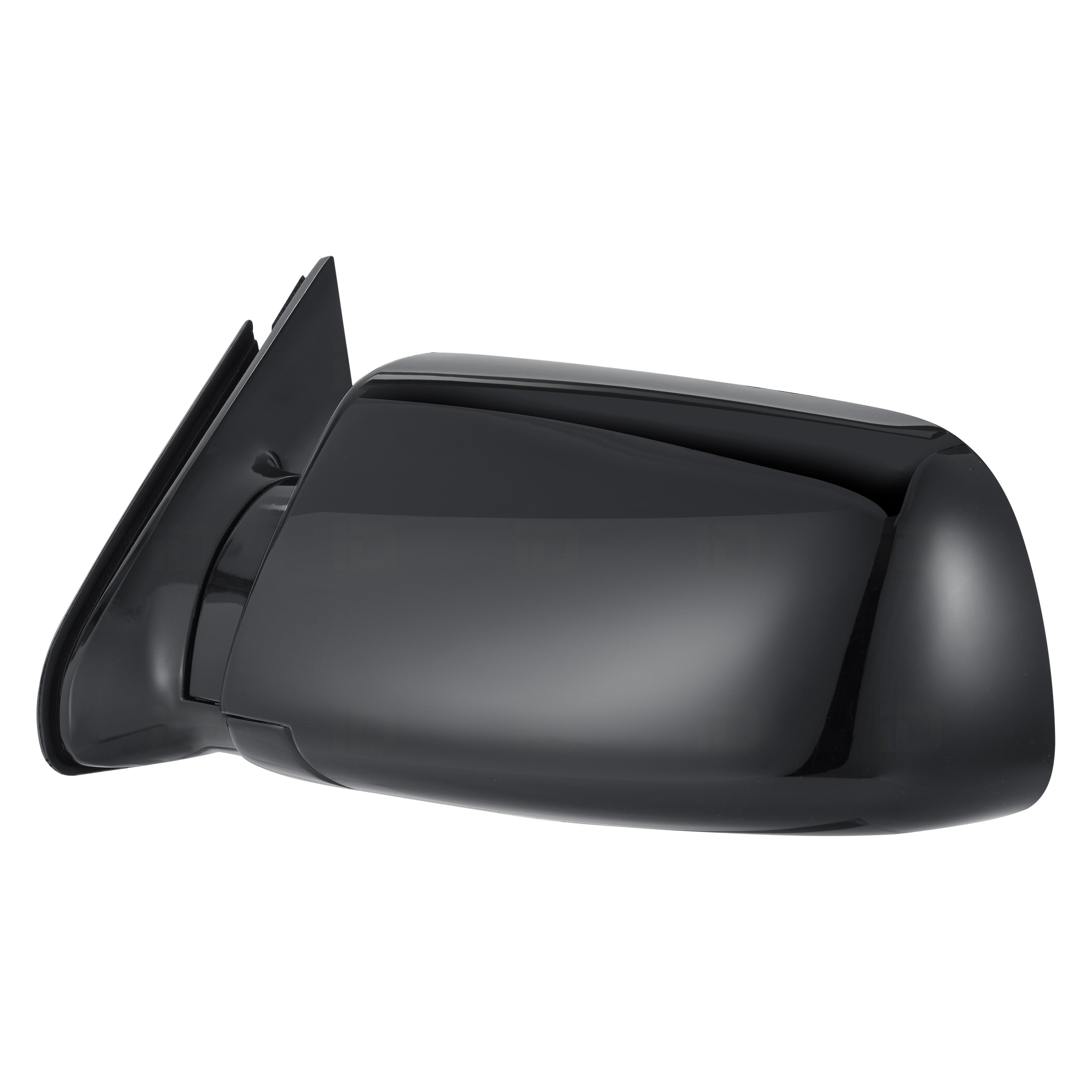 Chevy Silverado Side View Mirror Black With Chrome  1995-1999 Passenger