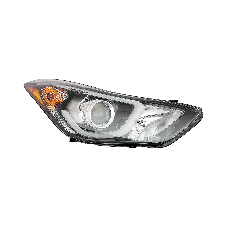 2010 hyundai elantra headlight bulb no contact voltage detector