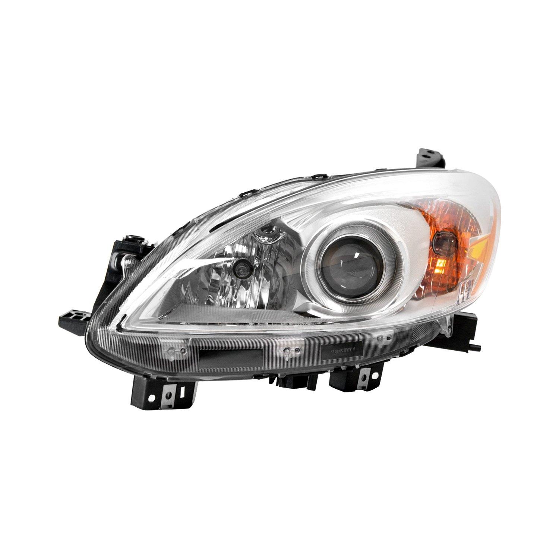 Mazda 5 Headlight Parts Diagram: For Mazda 5 2012-2017 Replace MA2518139C Driver Side