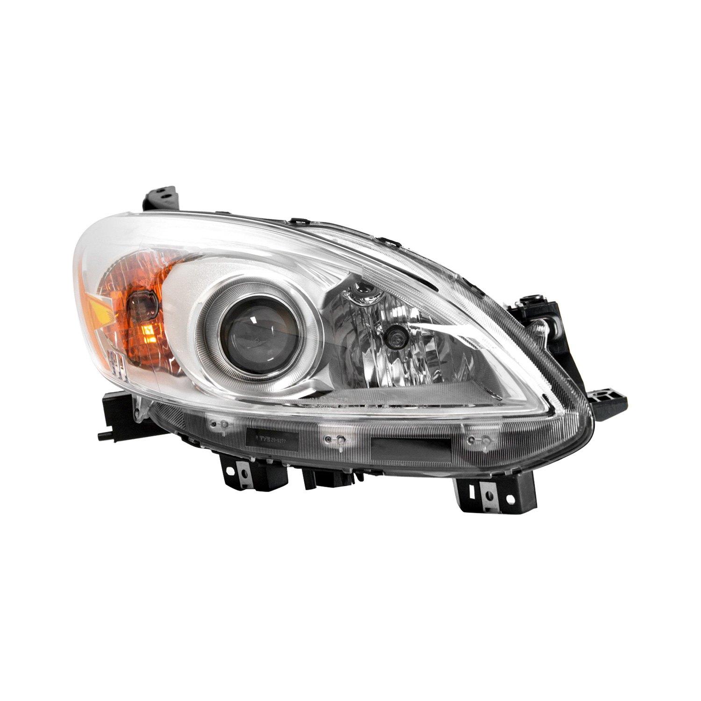 Mazda 5 Headlight Parts Diagram: Mazda 5 With Factory Halogen Headlights 2012