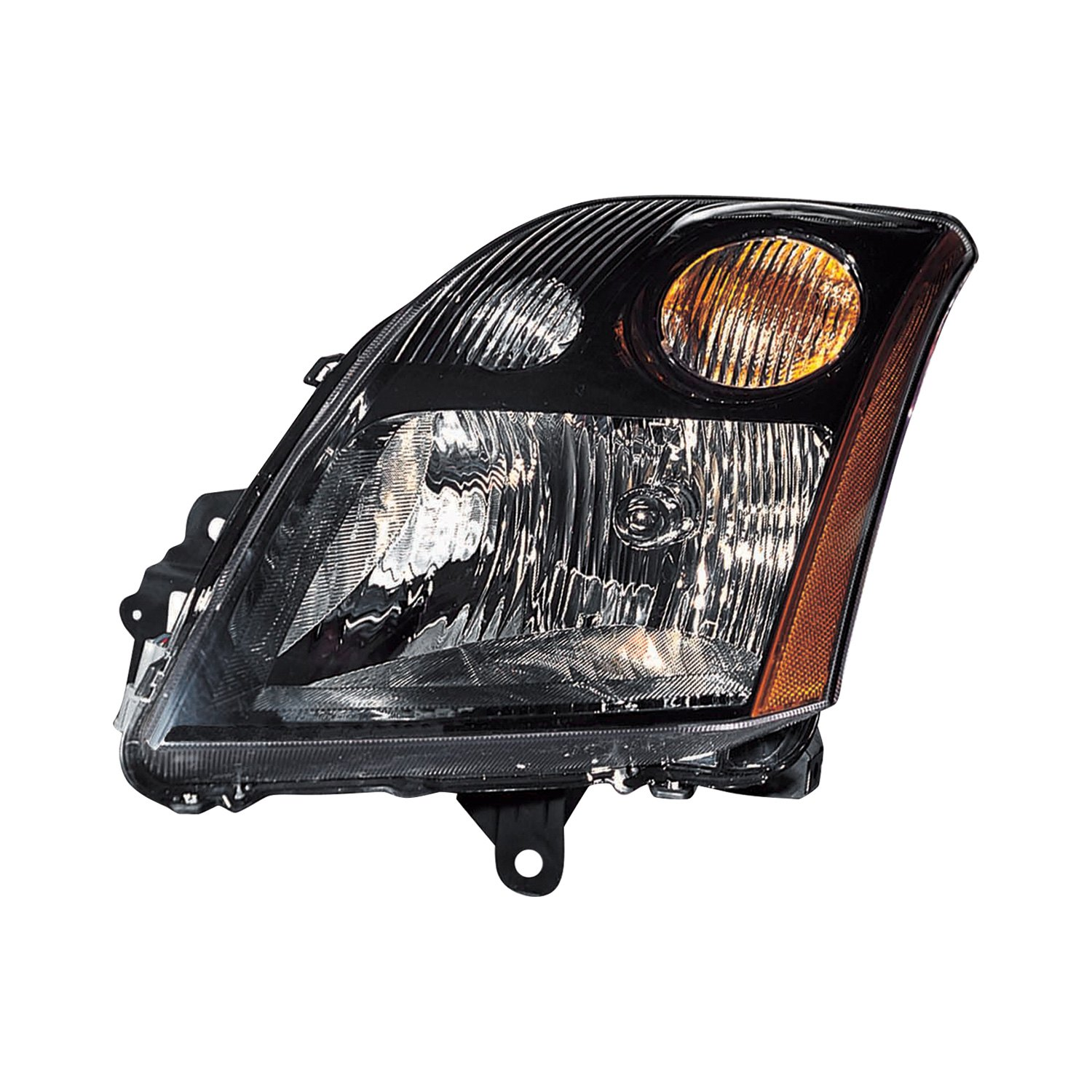 Driver and Passenger Side Headlights for 2007 2008 2009 Nissan Sentra 4-Door Models Headlamps Assembly Replacement with Black Housing
