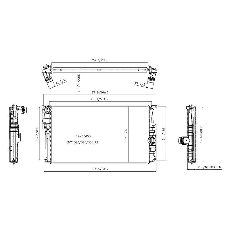 Replace® RAD13395 - Engine Coolant Radiator on