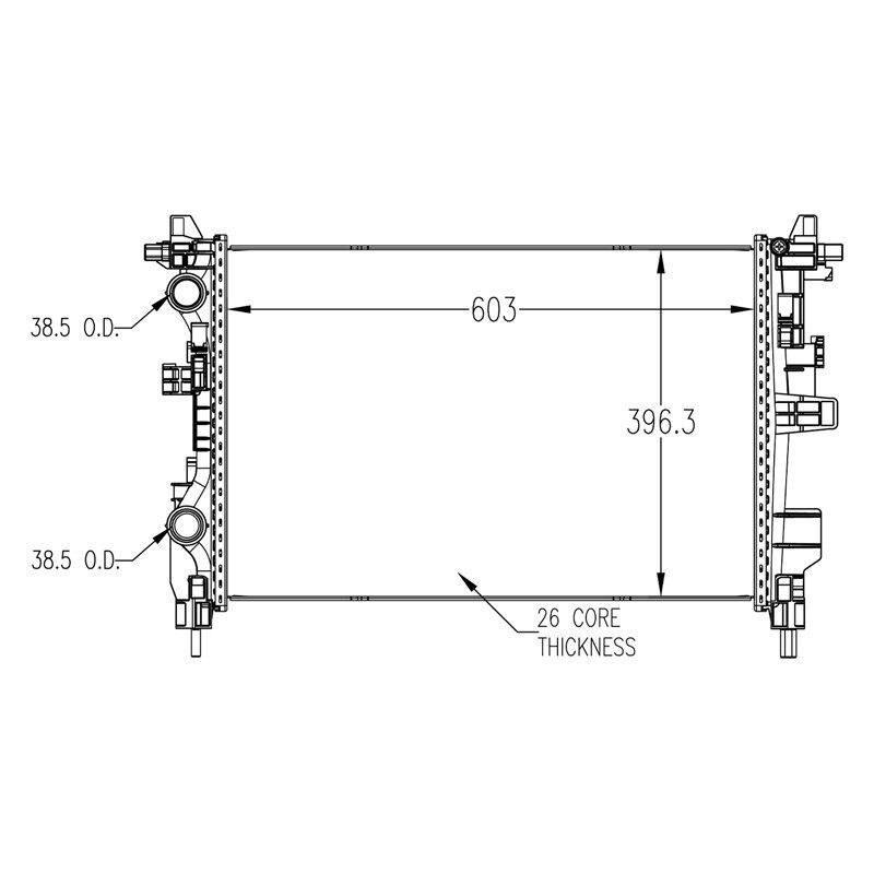 Replace® RAD13533 - Engine Coolant Radiator on