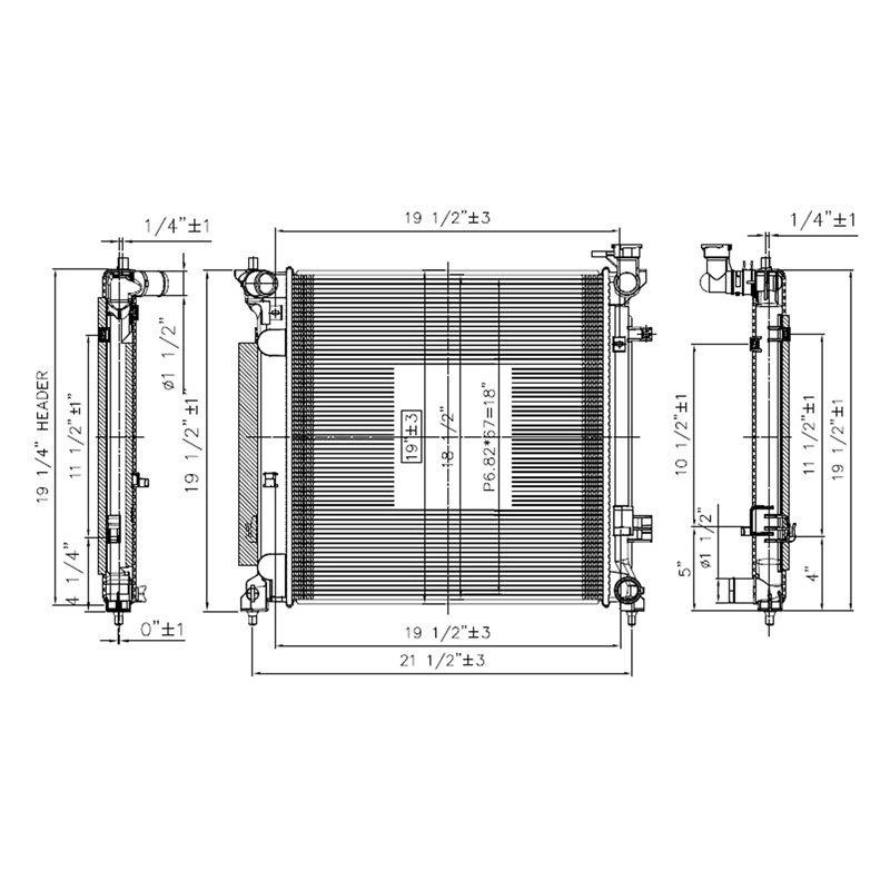 Replace Rad13538 Engine Coolant Radiator Schematic