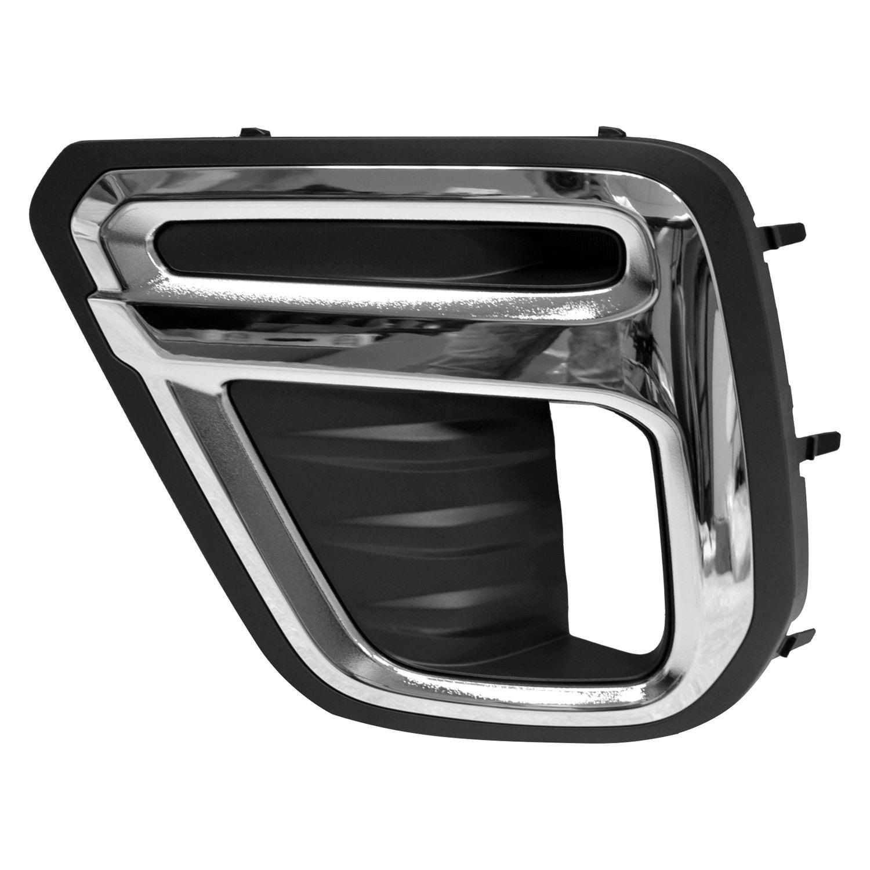 Black Fog Lamp Covers For Subaru Forester 2019-2021 Right Left Bezel Insert Trim