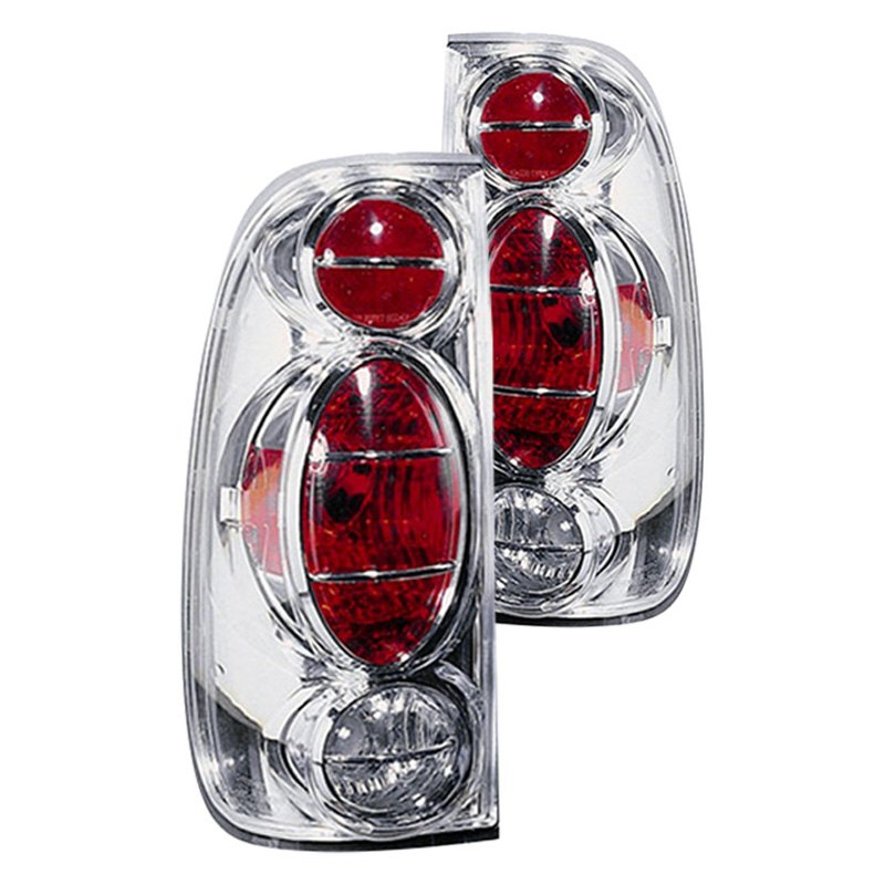 replace fo2811139 ford f 150 2003 chrome red euro tail lights. Black Bedroom Furniture Sets. Home Design Ideas