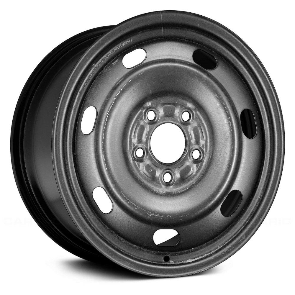 2003 2008 Mazda 6 Wheels For Sale: For Mazda 6 2003-2008 Replikaz 16x6.5 7-Vents Black Steel Factory Wheel Replica