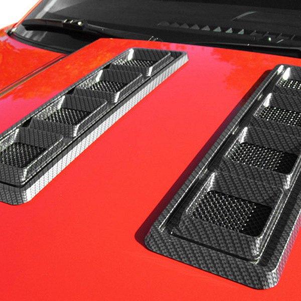 Retro usa ca hv a cf carbon fiber hood vent set