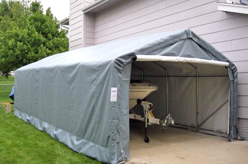 Rhino Portable Garage Shelters : Rhino shelter car extended instant garage
