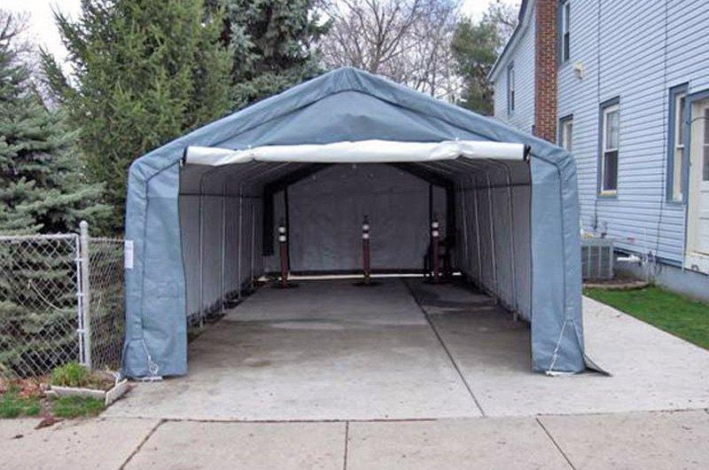 Instant Car Garages : Rhino shelter car extended instant garage