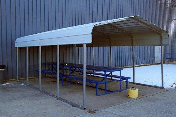 ... Shelter® - 12u0027 W x 20u0027 L x 8u0027 H Steel Carport House ... & Rhino Shelter® - Steel Carport House