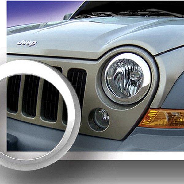 2002 Jeep Liberty Exterior: Jeep Liberty 2002 Chrome Headlight Bezels