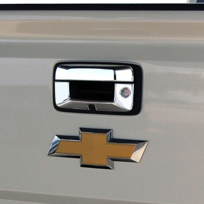 ri chevy silverado 2014 chrome tailgate handle cover. Black Bedroom Furniture Sets. Home Design Ideas