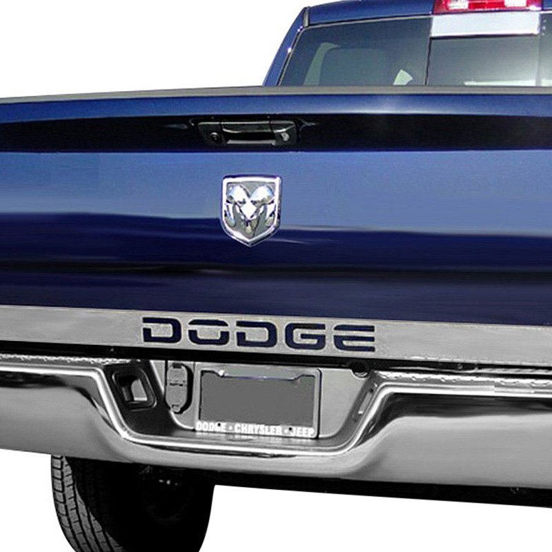 Ri dodge ram 2002 2008 polished tailgate accent for Dodge ram exterior accessories