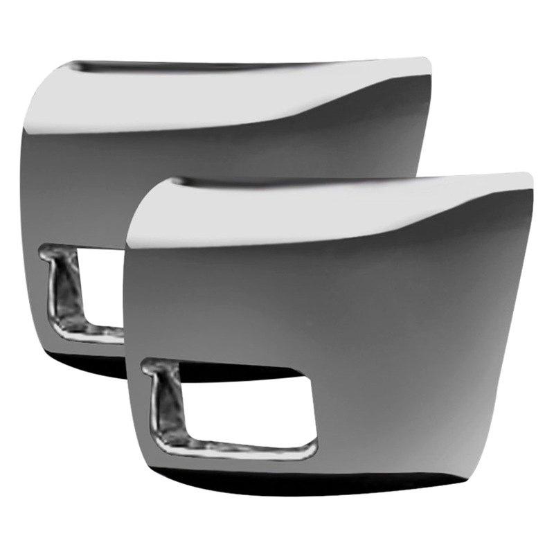 ri chevy silverado 1500 2012 chrome front bumper corner covers. Black Bedroom Furniture Sets. Home Design Ideas