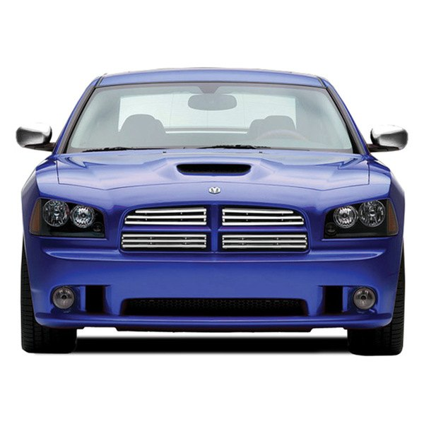 ri dodge charger 2010 chrome grille overlay. Black Bedroom Furniture Sets. Home Design Ideas