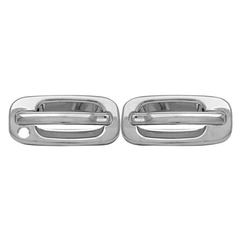 Ri chevy silverado 2 doors 1999 chrome abs plastic door for 03 silverado door handle replacement