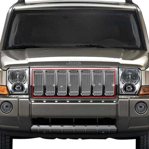 Ri 72 Sb Jecom06 T Jeep Commander 2006 7 Pc Chrome Billet Main Grille