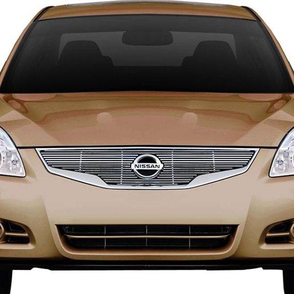 Ri nissan altima sedan 2010 1 pc chrome billet grille carid com for 2010 nissan altima interior accessories