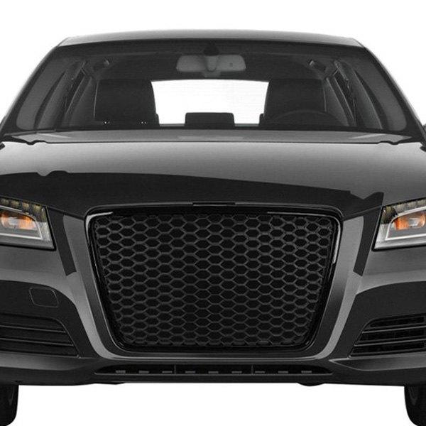 Audi A3 2012 1-Pc RS-Type Matte Black Honeycomb Mesh