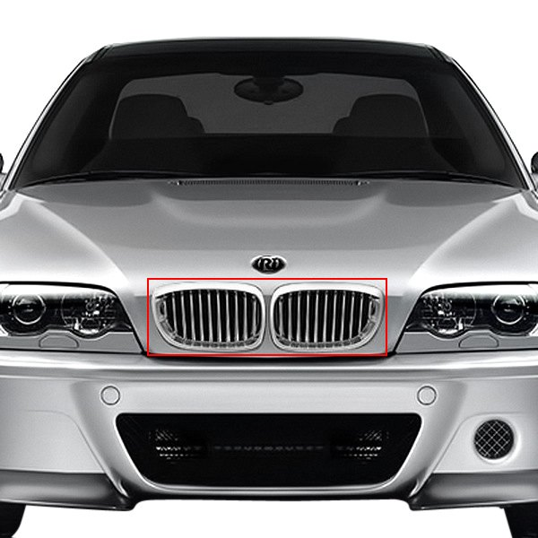 BMW 3-Series 2004 2-Pc Chrome Billet Grille
