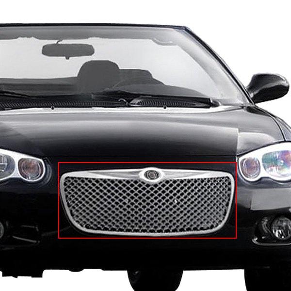 1-Pc Bentley Style Chrome Mesh Main