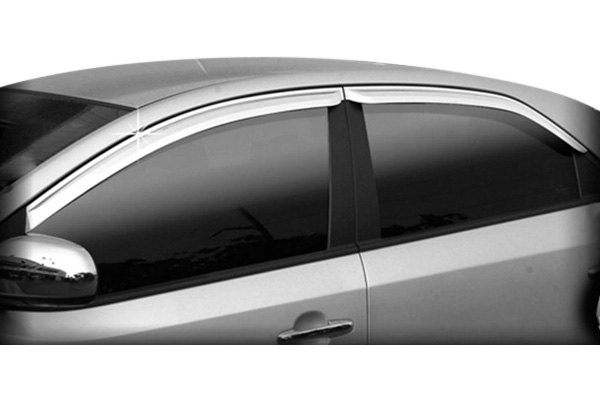 ri kia forte 2011 2013 tape on front and rear window visors. Black Bedroom Furniture Sets. Home Design Ideas