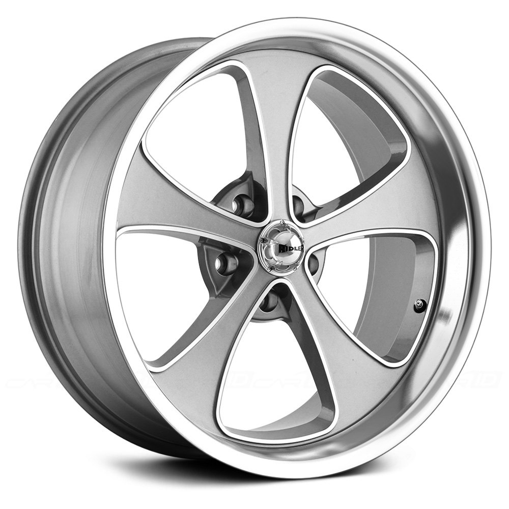 Ridler 174 645 Wheels Gray With Machined Face And Polished