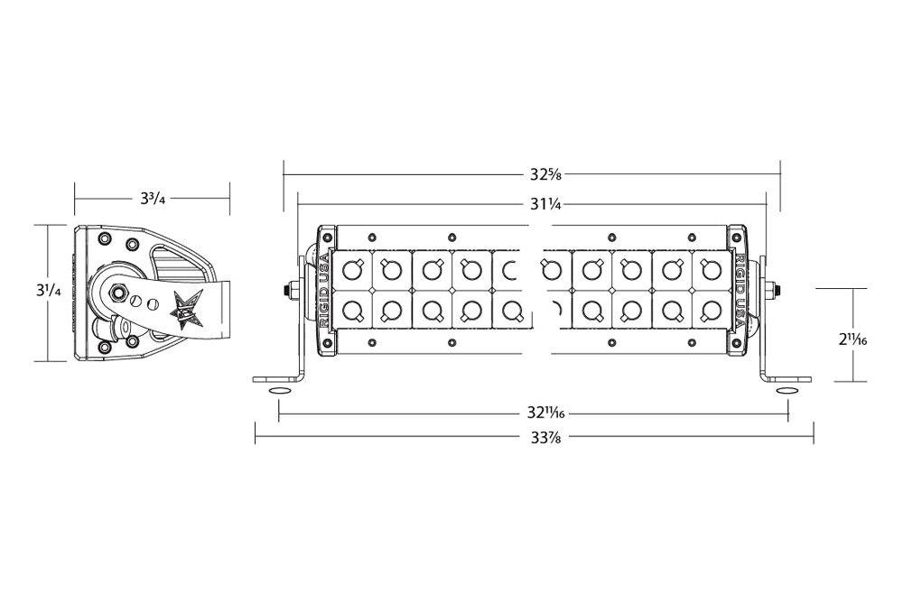 rigid industries® 130312 e series 30 165w dual row combo spot rigid industries® e series 30 165w dual row combo spot flood