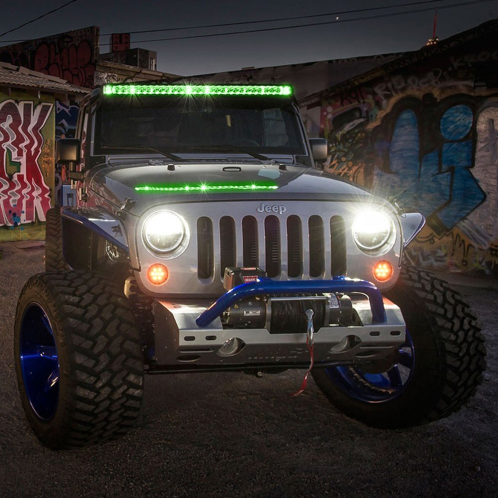 Rigid industries 240033 radiance plus 40 204w combo spotflood industries radiance plus 40 204w combo spotflood beam led light bar with green backlight closeuprigid industries radiance plus led light bar aloadofball Choice Image