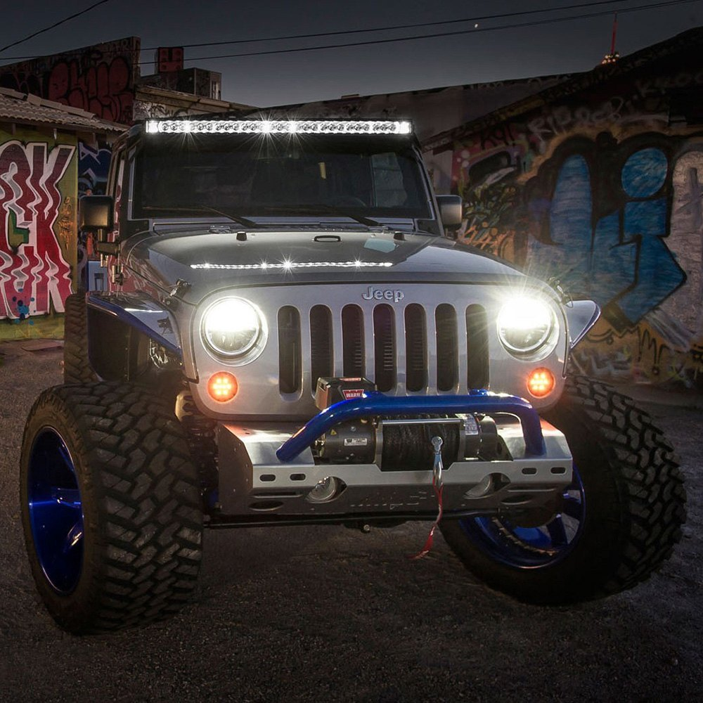 Rigid industries 250003 radiance plus 50 243w combo spotflood industries radiance plus 50 243w combo spotflood beam led light bar with white backlight closeuprigid industries radiance plus led light bar aloadofball Images
