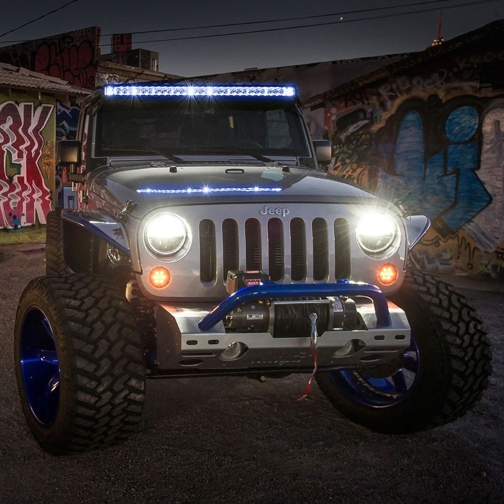 Rigid industries 250013 radiance plus 50 243w combo spotflood industries radiance plus 50 243w combo spotflood beam led light bar with blue backlight closeuprigid industries radiance plus led light bar aloadofball Gallery